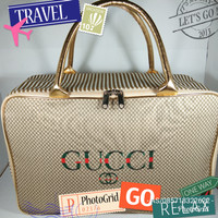 Tas Traveling / Tas renang / Tas Koper Kanvas Gucci