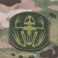 Mil Spec Monkey Frog Skeleton PVC morale patch
