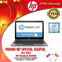 HP Pav x360 13-U170TU Silver - Core i3-7100U,4GB,500GB,13.3''HDTch,W10