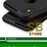 Iphone 6 / 6s / 6+ / 7 / 7+ MATTE BLACK Soft Silicone Slim Case
