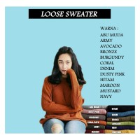 Loose sweater best seller pusat produksi