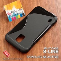 Softfcase Jelly Silikon Soft Case Cover Casing Samsung S5 Active