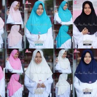 MiuLan Bergo Hijab Jilbab Kerudung Best Seller Adem Polos PLAIN LAURA