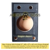"Box boks Speaker Salon Voice Mini Kotak 12"" 12 inch kayu karpet"