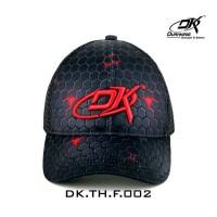 Duraking Topi Trucker Black Red Hexagon