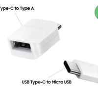 Konektor Samsung Ori Connector OTG USB Type Tipe C - Micro USB - USB A