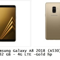 Samsung Galaxy A8 2018 (A530) - 4/32 GB - 4G LTE -Gold hp
