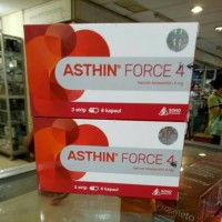 ASTHIN FORCE 4 (Natural Astaxanthin 4 mg) isi 6 kapsul / strip