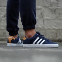 New Arrival Sepatu Pria Original Adidas Derby Vulc Navy Tan Made In In