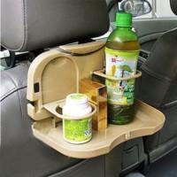 Travel Dining Tray Meja portable mobil botol Car Rak Lipat Minum Rack