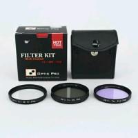 Filter Kit 67mm Optic Pro 3pcs for Lensa Canon Nikon So Murah