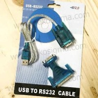 CONVERTER USB TO SERIAL DB-9 RS232 WITH DB-25 MALE Berkualitas