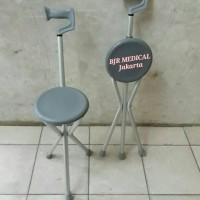 Kursi duduk Untuk Sholat Tanpa Roda bisa di Lipat Jadi Tongkat SHIMA
