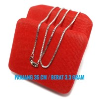 Harga kalung italy anak perak silver 925 lapis emas putih 35 cm | Pembandingharga.com