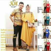 Dress Couple Kaftan Vanesa Corak Dan Kombinasi Batik Modern Pekalongan