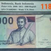 PMG 65 EPQ Rp.1.000 Kapitan Pattimura