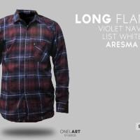 kemeja flannel flanel branded premium