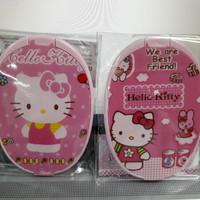 Kaca Cermin Saku Oval Sisir Hello Kitty Pink Bukan Merk Tupperware