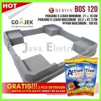 Bervin BOS-120 Stand Dudukan Mesin Cuci / Alas Kulkas / Kaki Lemari Es