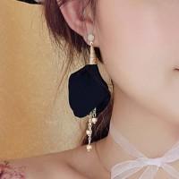 Anting Fashion  Korea Fabric flowers tassel earrings - JUL244