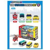 Tayo the Little Bus Mini Toy 4 Set - Air Peanut Kinder Shine