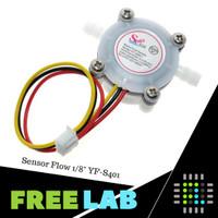 "Sensor Aliran Air High Precision Water Flow Sensor 1/8"" YF S401"