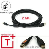 TetherTether 2 Meter USB Mini B 2.0 5pin kabel data kamera
