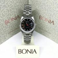 Jam Tangan Wanita Bonia B832-2337L Swarovski Black Silver Stainles Ste
