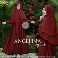 Gamis Syari Syar'i Syarii Maxi Maxy Longdress Hijab Muslim Aysila Red