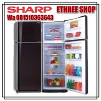 SHARP KULKAS 2 PINTU SJ IP571NLV BK - HYBRID COOLING SYSTEM - GARANSI