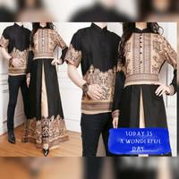 Jual couple baju muslim couple new elegan batik elegant era harga sepasang Murah