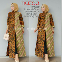 Jual LONG DRESS BATIK MAZDA / DRESS BATIK KERIS / DRESS KOMBINASI TILE Murah