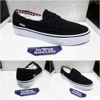 Vans Zapato Black White Premium Unisex (Free tas sepatu)
