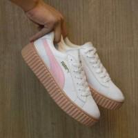 Sepatu Puma Fenty Rihanna Putih Pink / Cewe Wanita / Casual Wedges