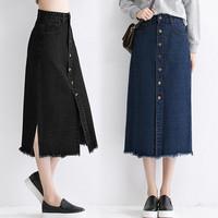 (#6136)Zaskia Denim Skirt/Rok Denim/Rok Jeans/Rok Panjang