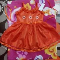 dres anak bayi perempuan 1 2 tahun gaun pesta orange dress baju baby