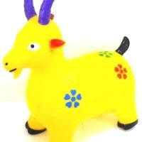 TOYS Mainan Kuda-Kudaan Unisex Karet dengan Bunyi Musik-KUNING