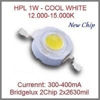 LED 1W Putih Bridgelux 2Chip 2x2630 / Cool White 12.000-15.000K