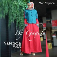 Valencia Vol 2 Dress Balotelly Gamis Panjang Hijab Casual Pakaian 2018