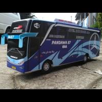 TERLARIS Miniatur Bus PANDAWA 87 Jetbus SHD Biru
