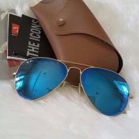 Kacamata ray ban original - rayban rb3025 112/17 blue mirror