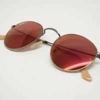Kacamata ray ban original - rayban round rb3447 167/2k red mirror
