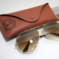 Kacamata ray ban original - rayban rb3025 001/51 gold brown gradient