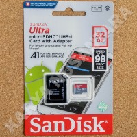 32GB SANDISK ULTRA 80MB/S MEMORY CARD MICROSD MICRO SD + ADAPTER
