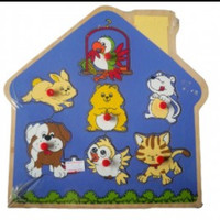 PUZZLE PETS IN THE HOME Mainan Anak