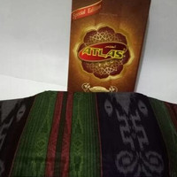 Sarung Atlas Motif Kembang Benang Tenun Eksklusif Exclusive Premium