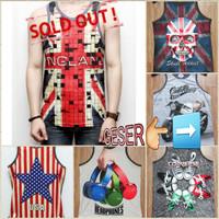 Kaos Singlet Cowok Distro Full Print Tshirt Pria Thai Grosir TERMURAH