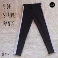 Jual Side Stripe Pants Celana Olahraga Casual Wanita Jogger JP256 Murah