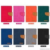 Canvas Samsung Tab 3V T116 - Flip Cover - Wallet Flip Case Casing