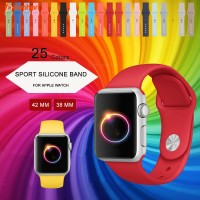 APPLE WATCH iWATCH 38 / 42 mm COLORFUL SPORT Silicone Strap Replacemen
